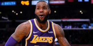 Mascherina di LeBron James NBA