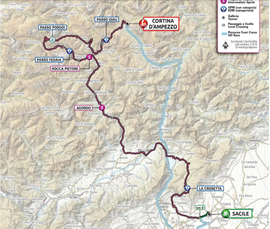 Cartina D Italia 1940.Tappa 16 Del Giro D Italia Mappa Percorso E Altimetrie