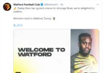Danny Rose torna al Watford
