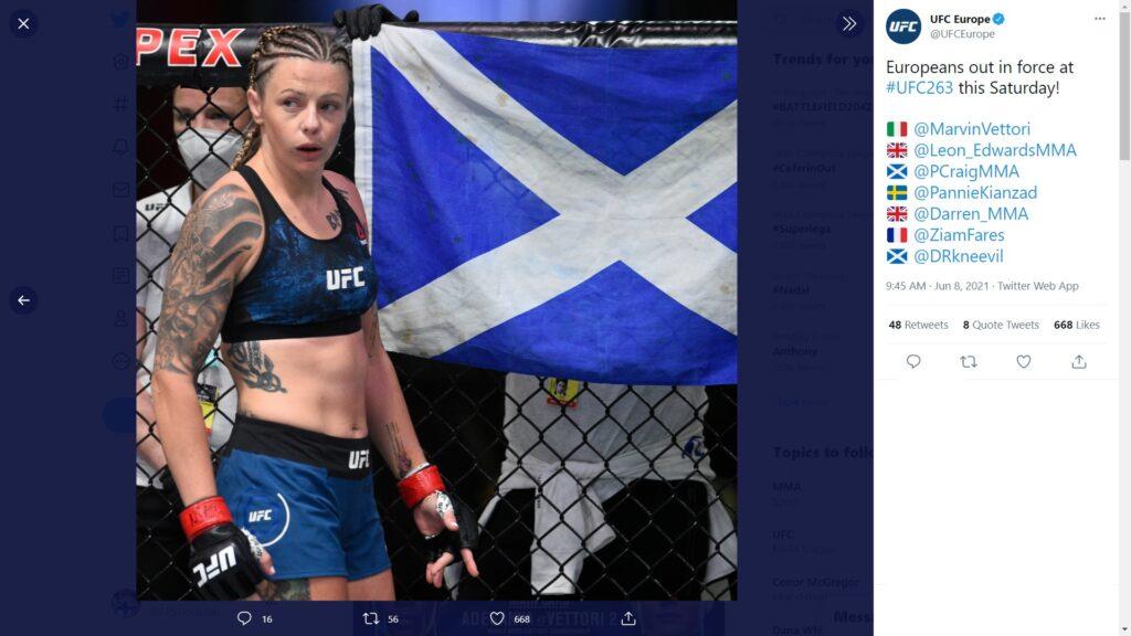 UFC 263 - Anteprima -  Joanne Calderwood
