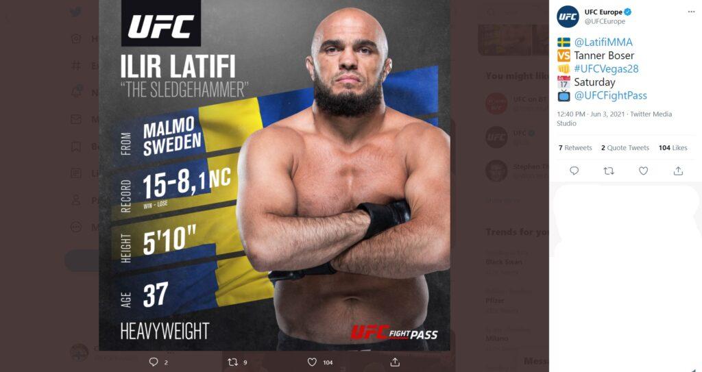 UFC Fight Night 189 - Anteprima - Ilir Latifi