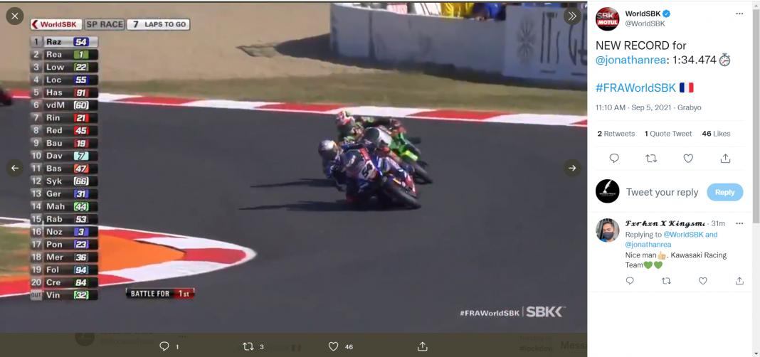 sbk francia superpole race